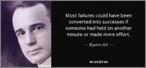 failures successes napoleon hill